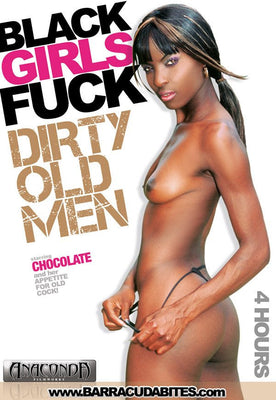 Black 18+ Girls Fuck Dirty Old Men - 4 Hour Black DVD