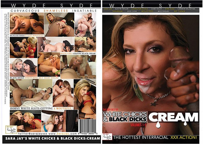 White Chicks & Black Dicks: Cream #1 2016 (sara jay) Wyde Syde Sealed DVD