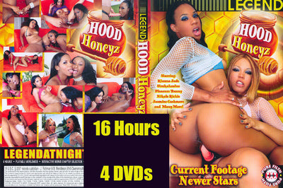 Black Lesbian 16 Hours 4 DVD Set Shipped in Sleeves