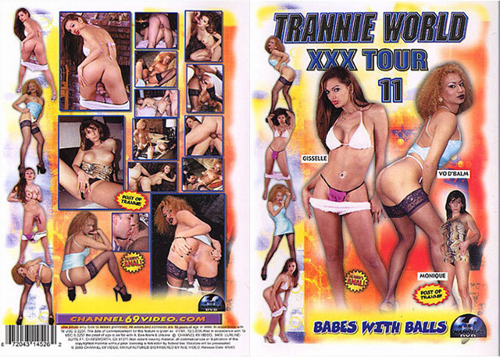 Trannie World XXX Tour #11 - Channel 69 Sealed DVD