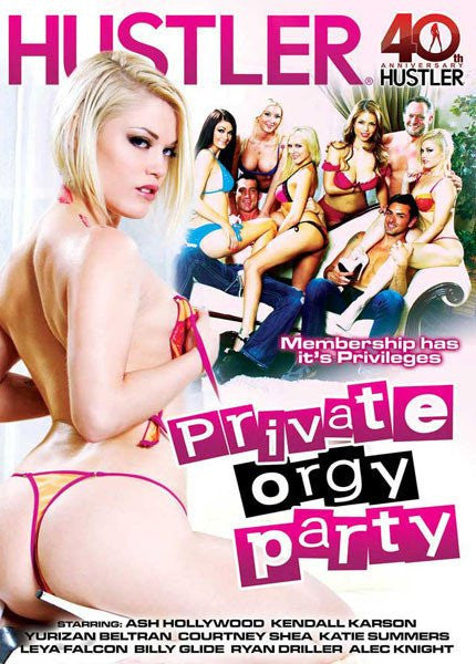 Private Orgy Party - Hustler Sealed DVD
