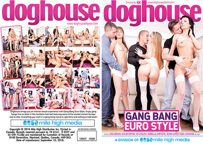 Gang Bang Euro Style Doghouse - (gangbang) Sealed DVD