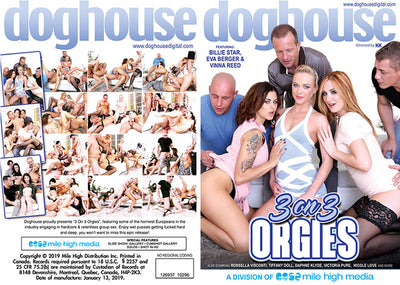 3 On 3 Orgies 1 Doghouse - Sealed DVD