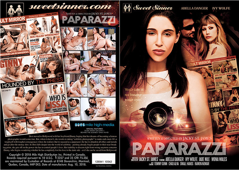 Paparazzi Sweet Sinner - Sealed DVD