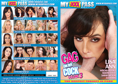 Gag On My Cock 3 My XXX Pass Sealed DVD