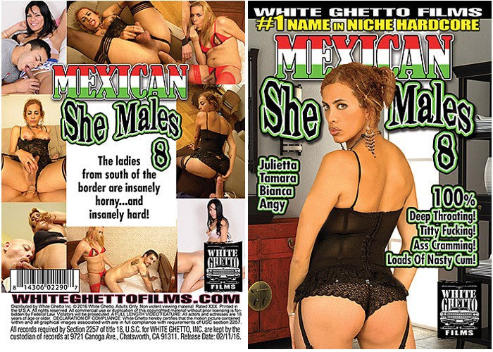 Mexican Shemales #8 - White Ghetto 2016 Sealed DVD