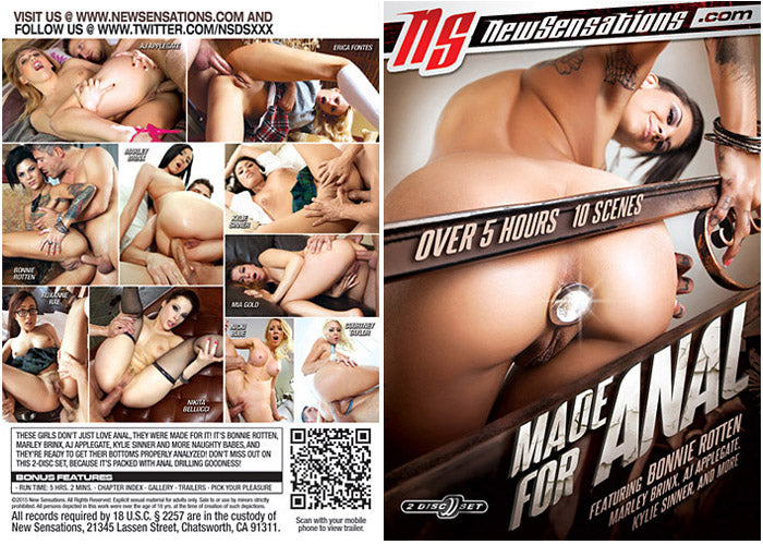 Made for Anal - New Sensations Sealed 2 DVD Set