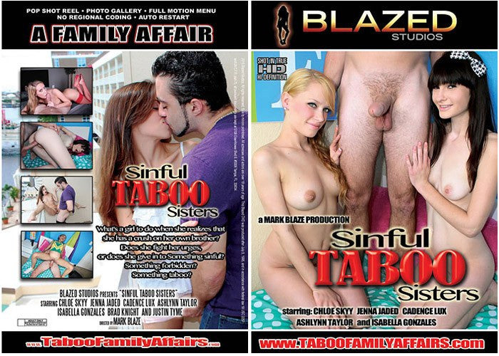 Sinful Taboo Sisters - Blazed New Sealed Sealed DVD