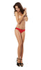 Dreamgirl Lingerie Cheeky Panty Red/Black size medium