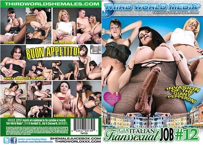 Italian Transsexual Job #12 - Third World Media Sealed Transsexual DVD