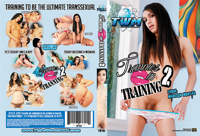 Trannies in Training #2 - Third World Media Sealed Transsexual DVD