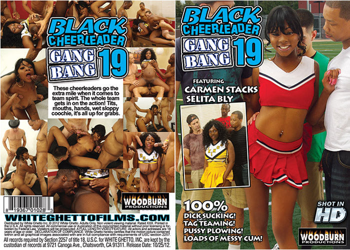 Black Cheerleader Gangbang #19 - Woodburn Sealed DVD