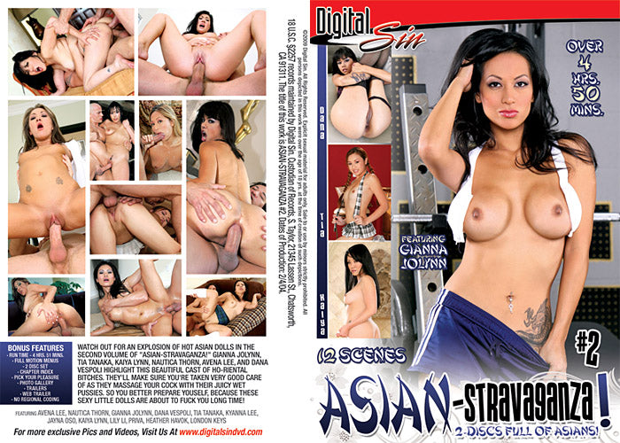 Asian-stravaganza! #2 - 5 Hour Digital Sin - 2 Sealed DVD Set