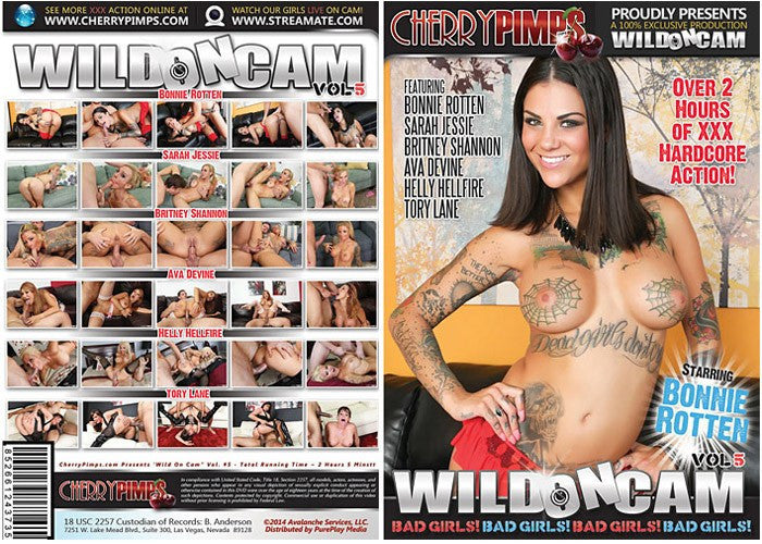 Wild on Cam #5 Bonnie Rotten - (lesbian) Cherry Pimps New Sealed DVD
