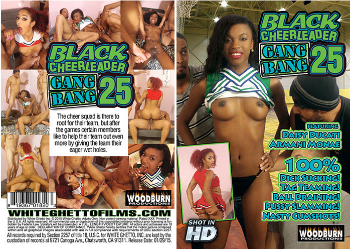 Black Cheerleader Gangbang #25 - Woodburn Sealed DVD