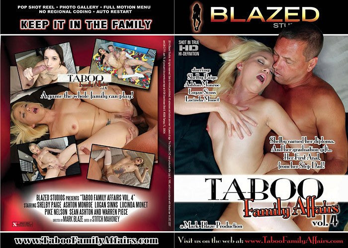 Taboo Family Affairs #4 - Blazed New Sealed DVD