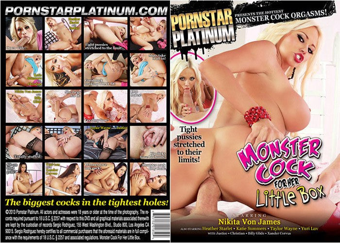 Monster Cock for Her Little Box - Pornstar Platinum Adult XXX Sealed DVD