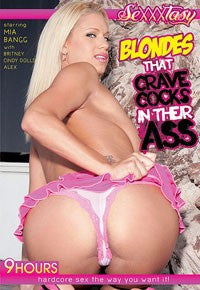 Blondes That Crave Cocks in Their Asses 9 Hour DVD