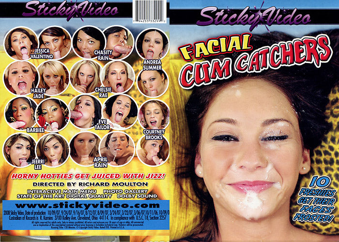 Facial Cum Catcher #1 - Sticky Video Sealed DVD