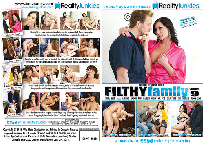 Filthy Family #9 - Reality Junkies Sealed DVD