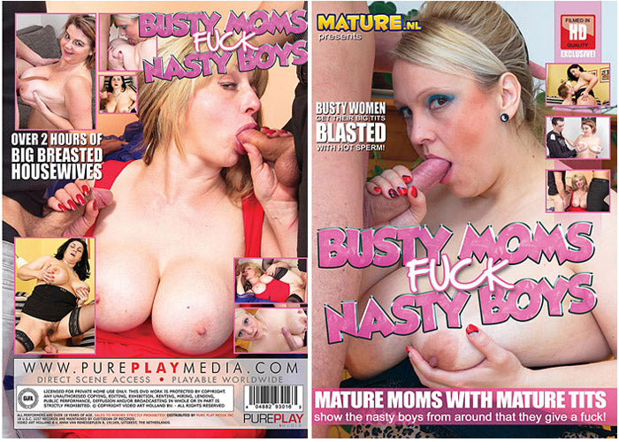 Busty Moms Fuck Nasty Boys #1 - Mature.nl Sealed DVD