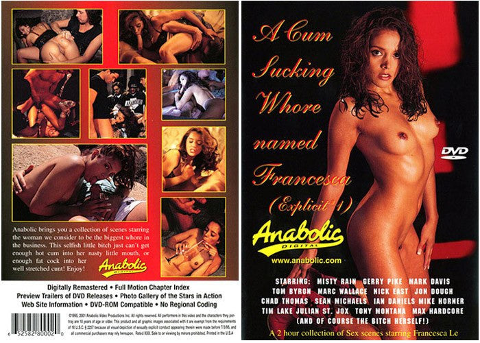 A Cum Sucking Whore Named Francesca - Anabolic Sealed DVD