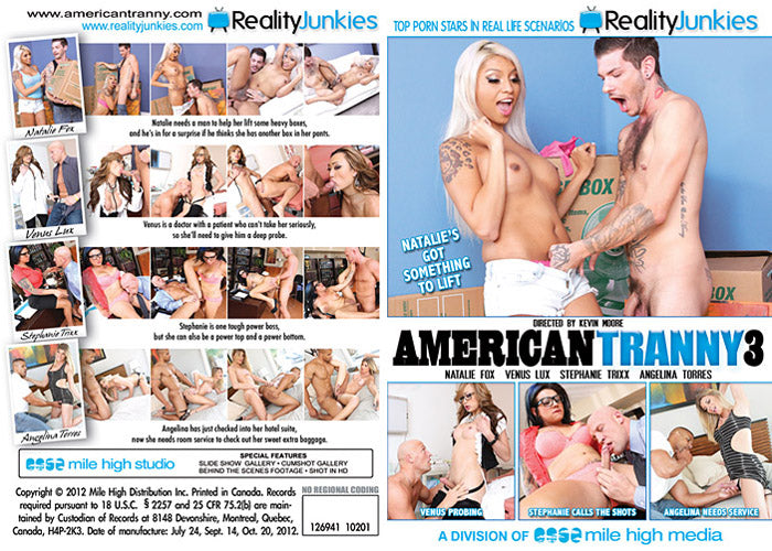 American Tranny #3 - Reality Junkies Sealed Transsexual DVD