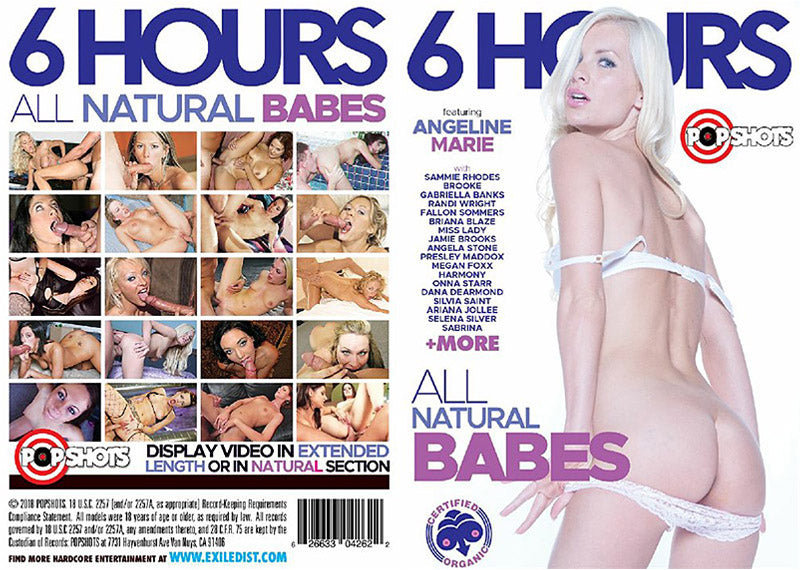 All Natural Babes - 6 Hours Pop Shots Sealed DVD