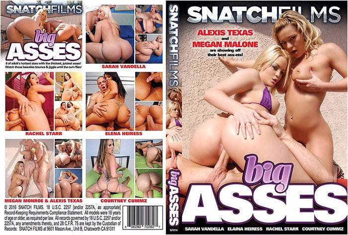 Big Asses #1 (alexis texas) Snatch Films Sealed DVD