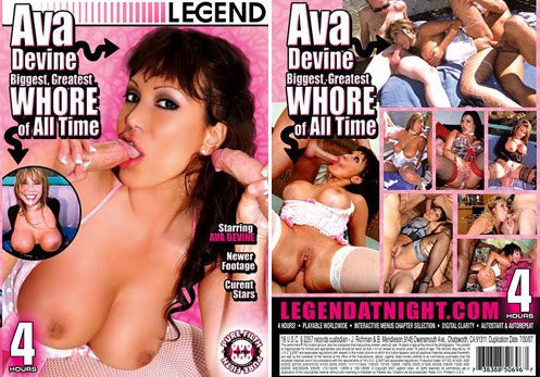 Ava Devine Greatest Whore of All Time,  Legend 4 Hour DVD In Sleeve
