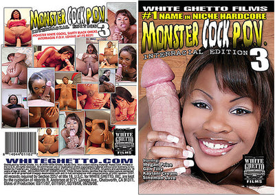 Monster Cock POV #3 - White Ghetto Cheap Adult DVD