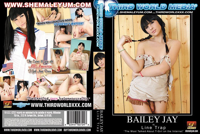 Bailey Jay is Line Trap - Grooby Sealed Transsexual DVD