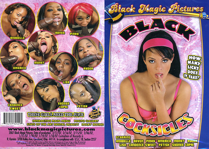Black Cocksicles #1 - Black Magic Sealed Adult DVD