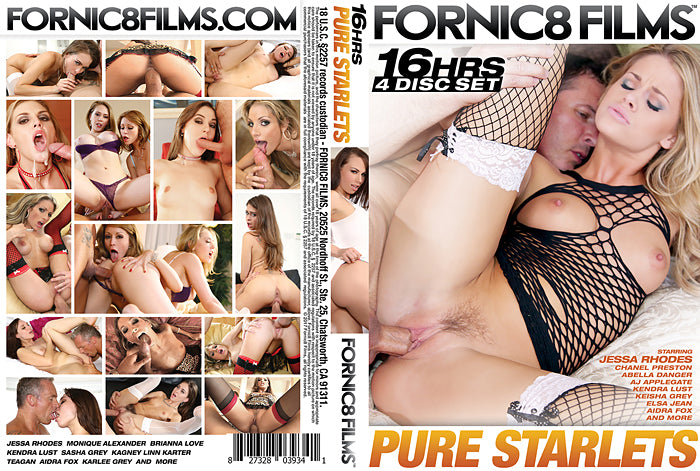 Pure Starlets #1 - Fornic8 Films 16 Hour 4 DVD Sealed Set