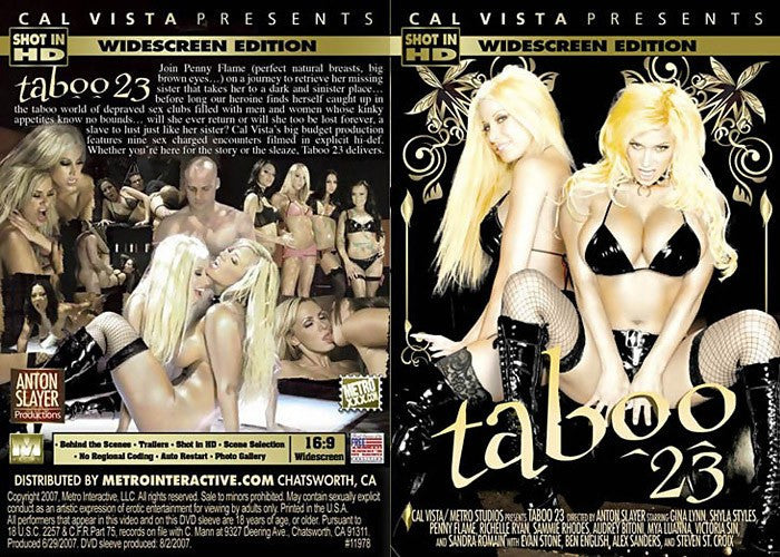 Taboo #23 (real movie) Cal Vista Adult Sealed DVD