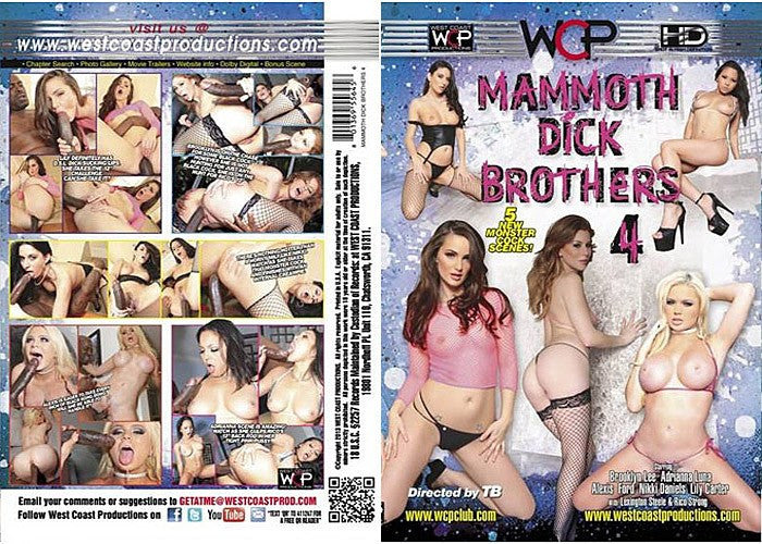 Mammoth Dick Brothers #4 - WCP Sealed DVD