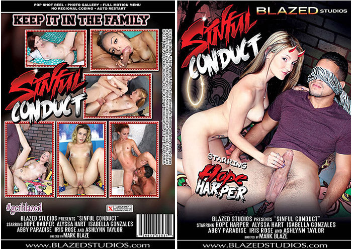 Sinful Conduct #1  - Blazed New Sealed DVD