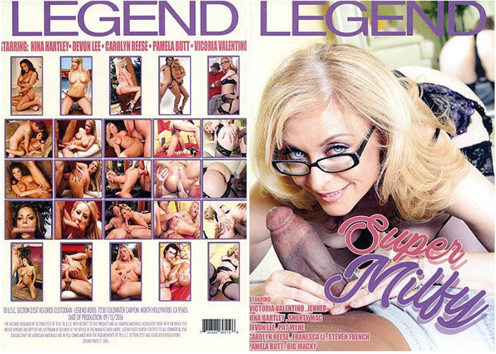 Blonde Granny Actresses Dvd - Super Milfy - Legend 2016 DVD in Sleeve