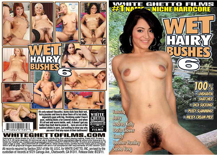 Wet Hairy Bushes #6 - White Ghetto Cheap Adult DVD