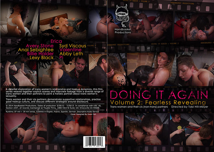 Doing it Again #2 Fearless Revealing - Handbasket Adult Shemale Transsexual DVD