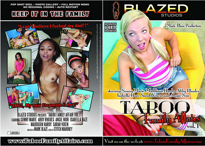 Taboo Family Affairs #1  - Blazed New Sealed DVD