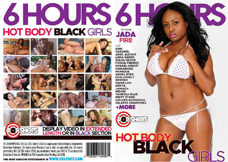 Hot Body Black Girls #1 - 6 Hours Pop Shots Sealed DVD