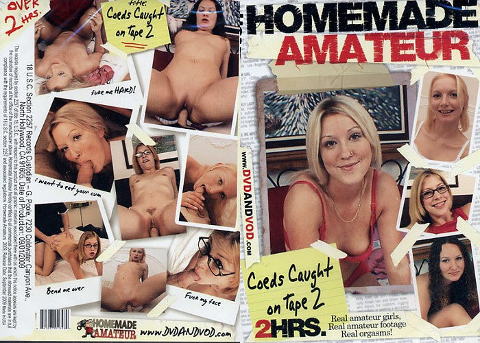 Coeds Caught on Tape #2 - Homemade Amateurs Adult XXX DVD