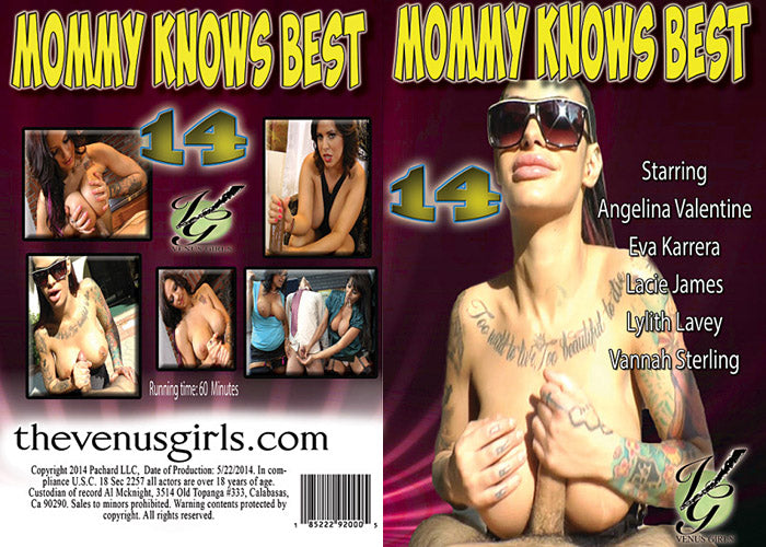 Mommy Knows Best #14 - Venus Sealed DVD