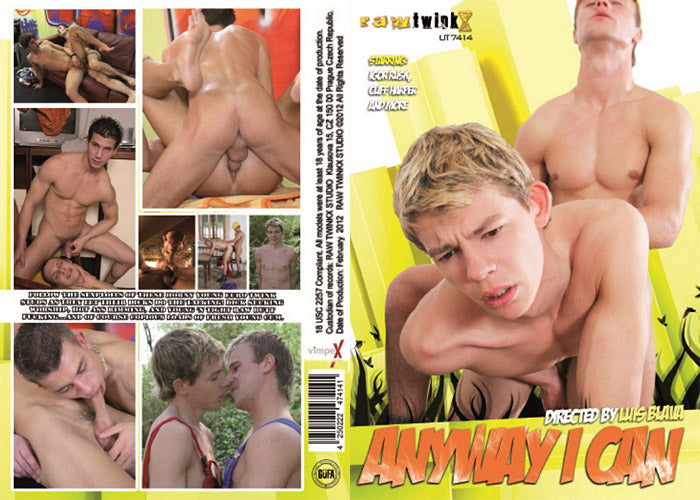Anyway I Can - Raw Twinkx Sealed Gay DVD