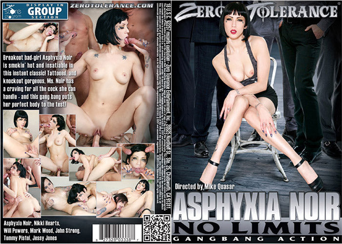 Asphyxia Noir - No Limits - Zero Tolerance Sealed DVD