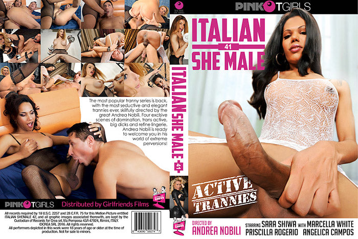 Italian Shemale #41 - Pink Tgirls Sealed Transsexual DVD