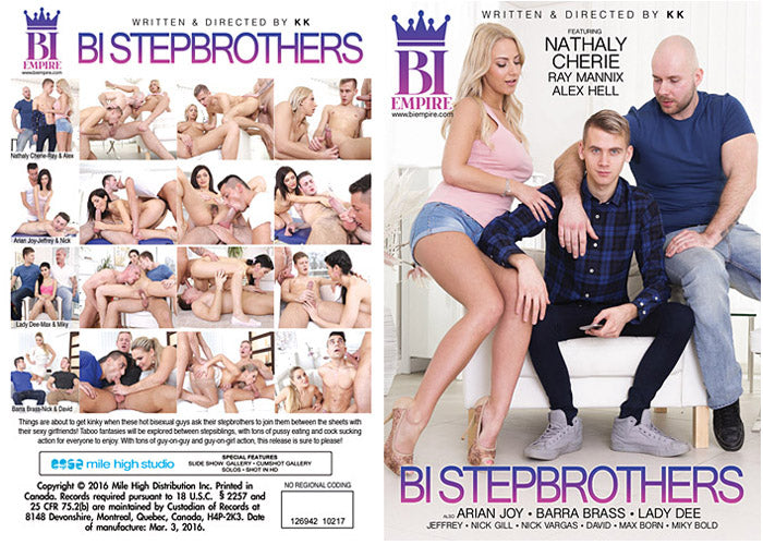 Bi Stepbrothers #1 - Bi Empire Bisexual Sealed Adult DVD