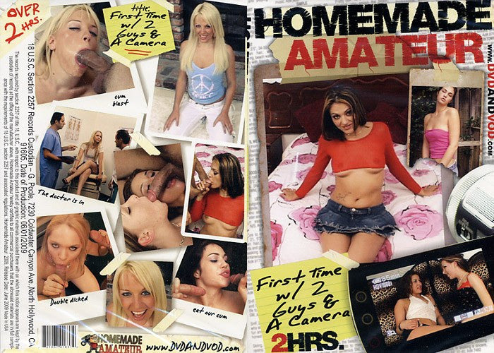 First Time w/ 2 Guys & a Camera #1 - Homemade Amateurs Adult XXX DVD