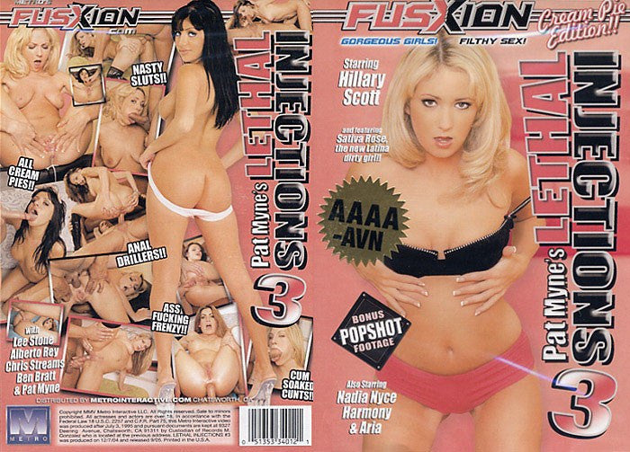Lethal Injections #3 -  Fusxion Adult XXX DVD